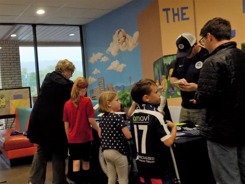 Asheville City Soccer Club's first fans sign up for tickets.