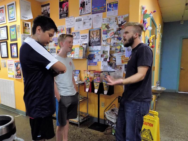 Asheville City Soccer Club team members meet fans at The Hop in Asheville.