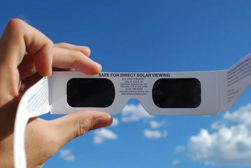 Solar viewing glasses are one way you can view the eclipse safely.