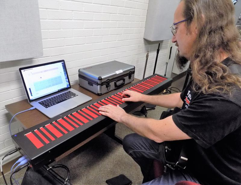 Sound Designer Christophe Duquesne plays the Haken Continuum.