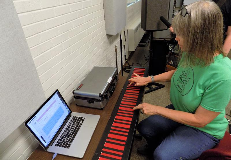 Musician Sally Sparks demonstrates the Haken Continuum.