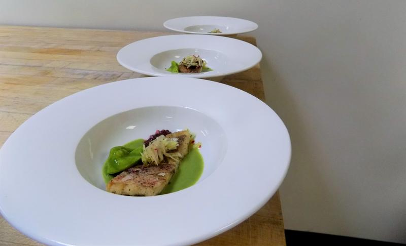 The fish starter course of Filets de Sole Lady Egmont is plated!