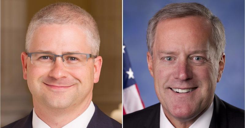 Congressman Patrick McHenry (left) and Congressman Mark Meadows