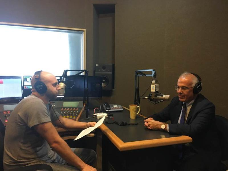 NYT columnist David Brooks (right) speaking with BPR's Jeremy Loeb