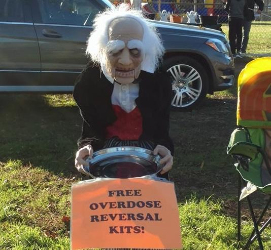 This decoration caused a bit of a stir in Macon County among some parents on Halloween.