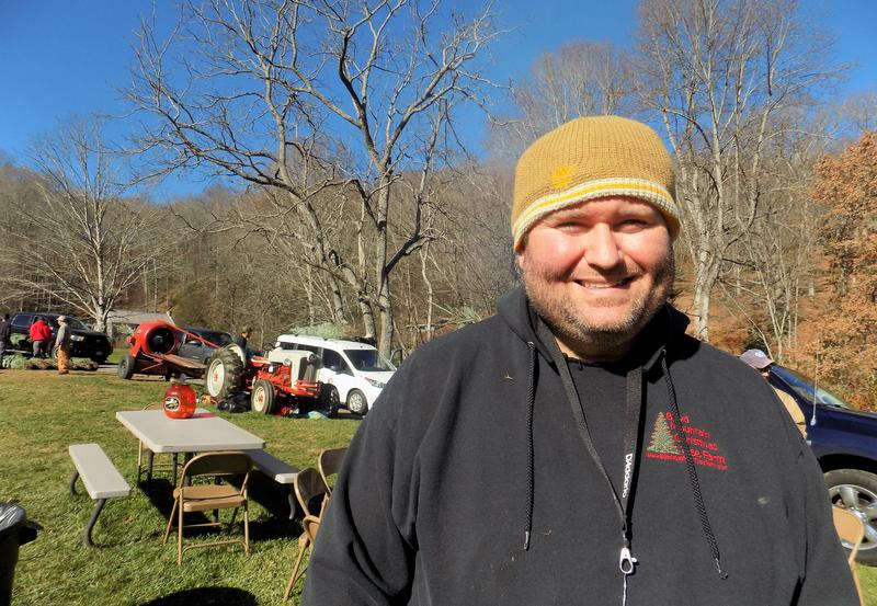 Darren Nicholson who works with Boyd Mountain Christmas Tree Farm and also  happens to play with the award winning Bluegrass band Balsam Range