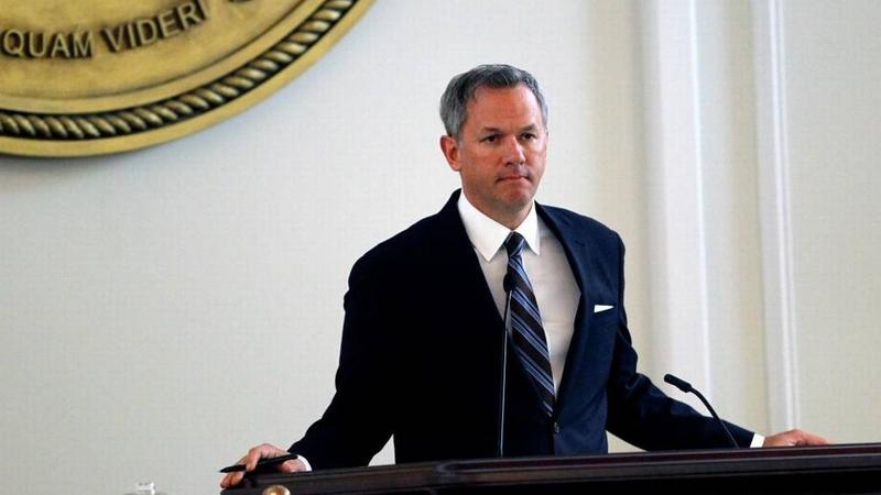 Lt. Gov. Dan Forest presides in the Senate chamber at the Legislative Building in Raleigh in 2016.
