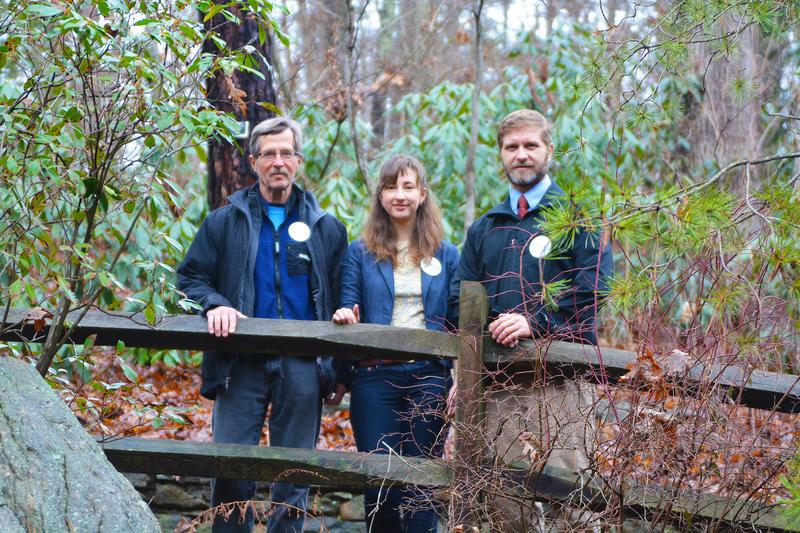 WNC Green Party members Bob Carson, Camille McCarthy, and Ben Williamson