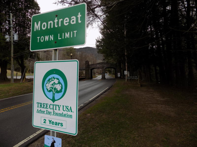 The entrance to the town of Montreat, near the home where Reverend Billy Graham died Wednesday morning