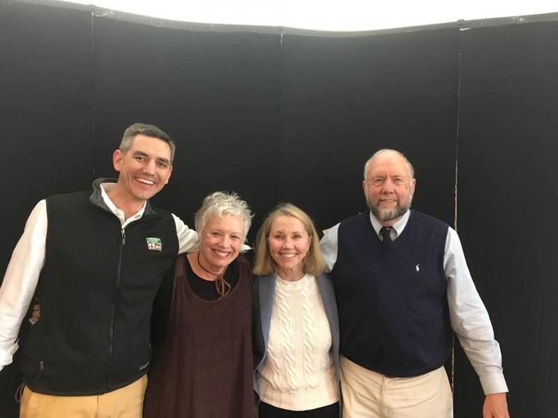 Buncombe County legislators (from left) Democrats Brian Turner, Susan Fisher, Terry Van Duyn and John Ager