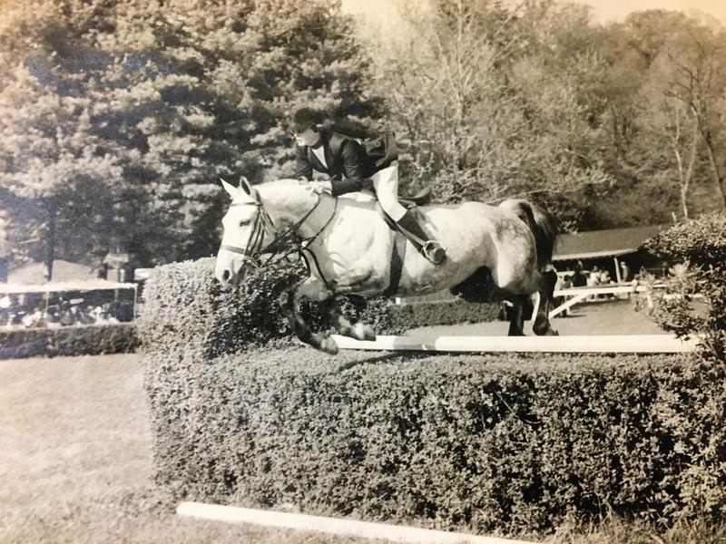 Happy McLeod starting riding when she was a little girl. Here she is as a young woman competing in Tryon.
