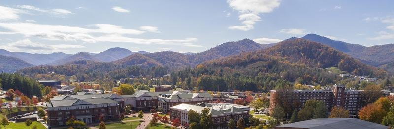 Western Carolina University is nestled between the Blue Ridge and the Great Smoky Mountains.