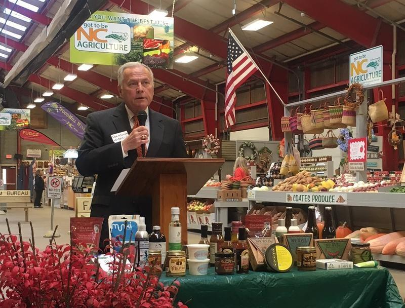 David Smith, chief deputy commissioner for the North Carolina Department of Agriculture accepted the check for $1.25 million dollars.