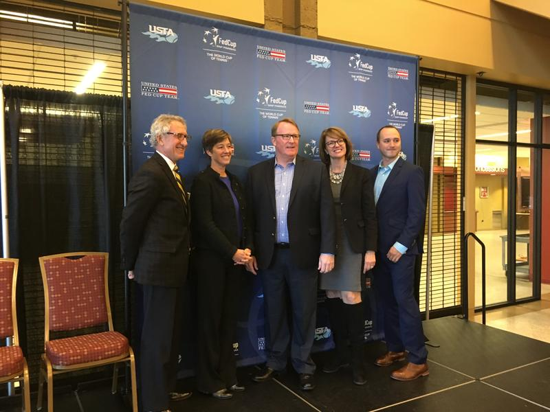 USTA and local officials make the announcement Tuesday that the Fed Cup will return to Asheville in February 2019