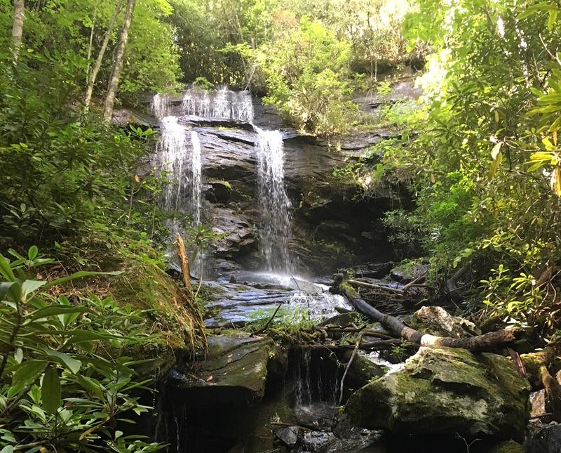 Macon County is dotted with waterfalls like the one pictured. However, the local terrain can make access to healthcare more difficult as hospitals can often be far away from home.