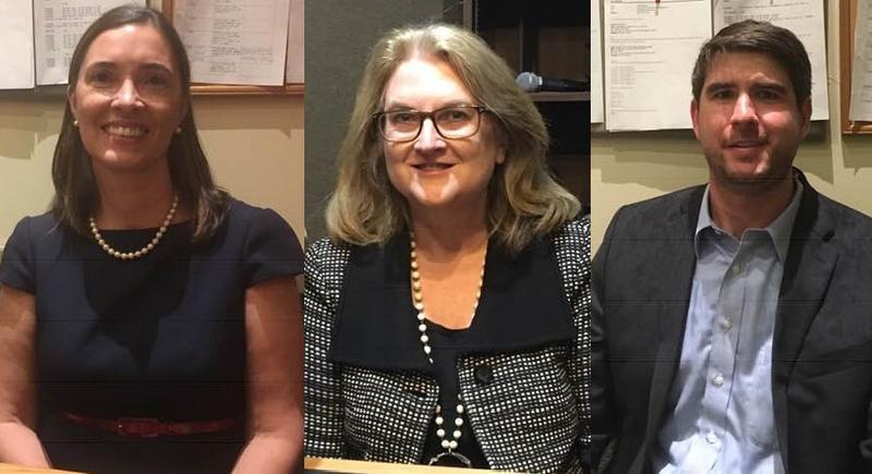 From left: Anita Earls (D), Justice Barbara Jackson (R), Chris Anglin (R) at BPR studios