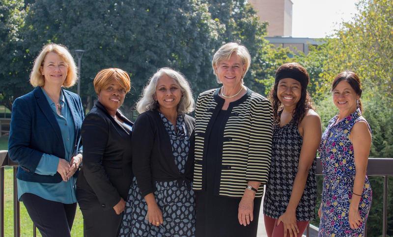 (L to R) Karin Peterson, Je'Wana Grier-McEachin, Ameena Batada, Nancy Cable, Dasia Jefferson, Jill Fromewick