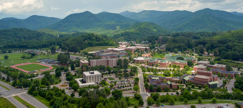 An early voting site on the campus of Western Carolina University saw a large spike in voting ahead of this year's general election