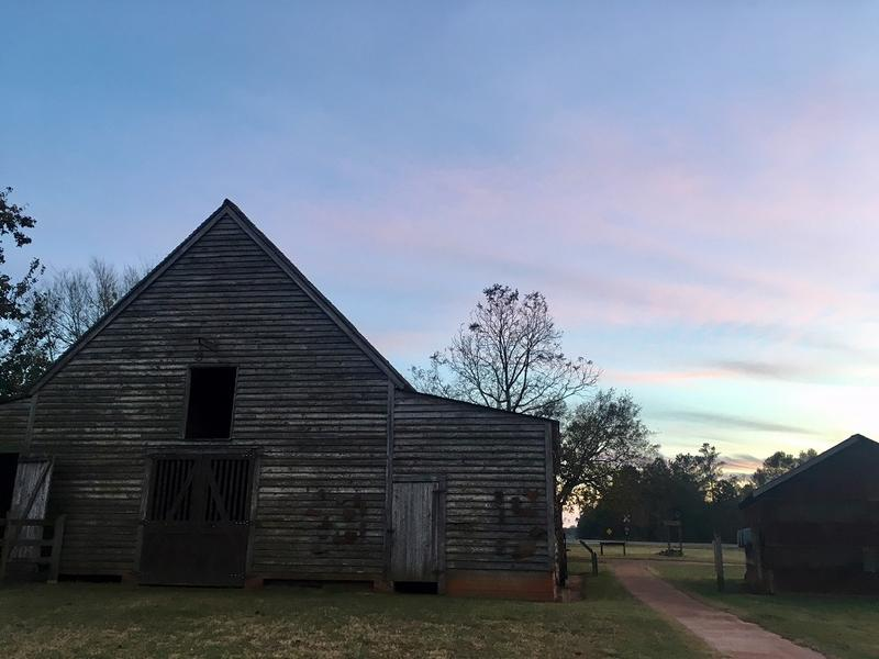 The barn on President Jimmy Carter's boyhood farm housed the family's animals such as the mules who plowed the peanut fields.