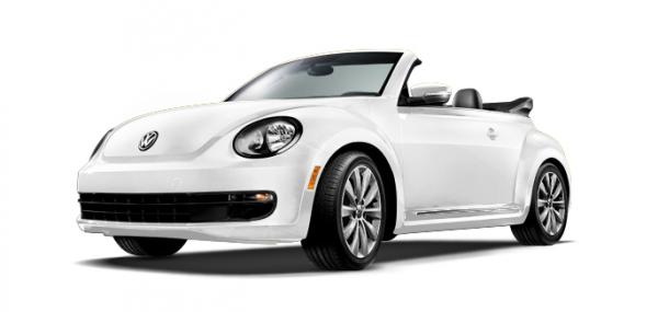2014 VW Beetle TDI Convertible with TDI clean diesel technology, six-speed automatic transmission, power folding top, leatherette, heated seats and touchscreen radio. The vehicle is valued at $29,595.