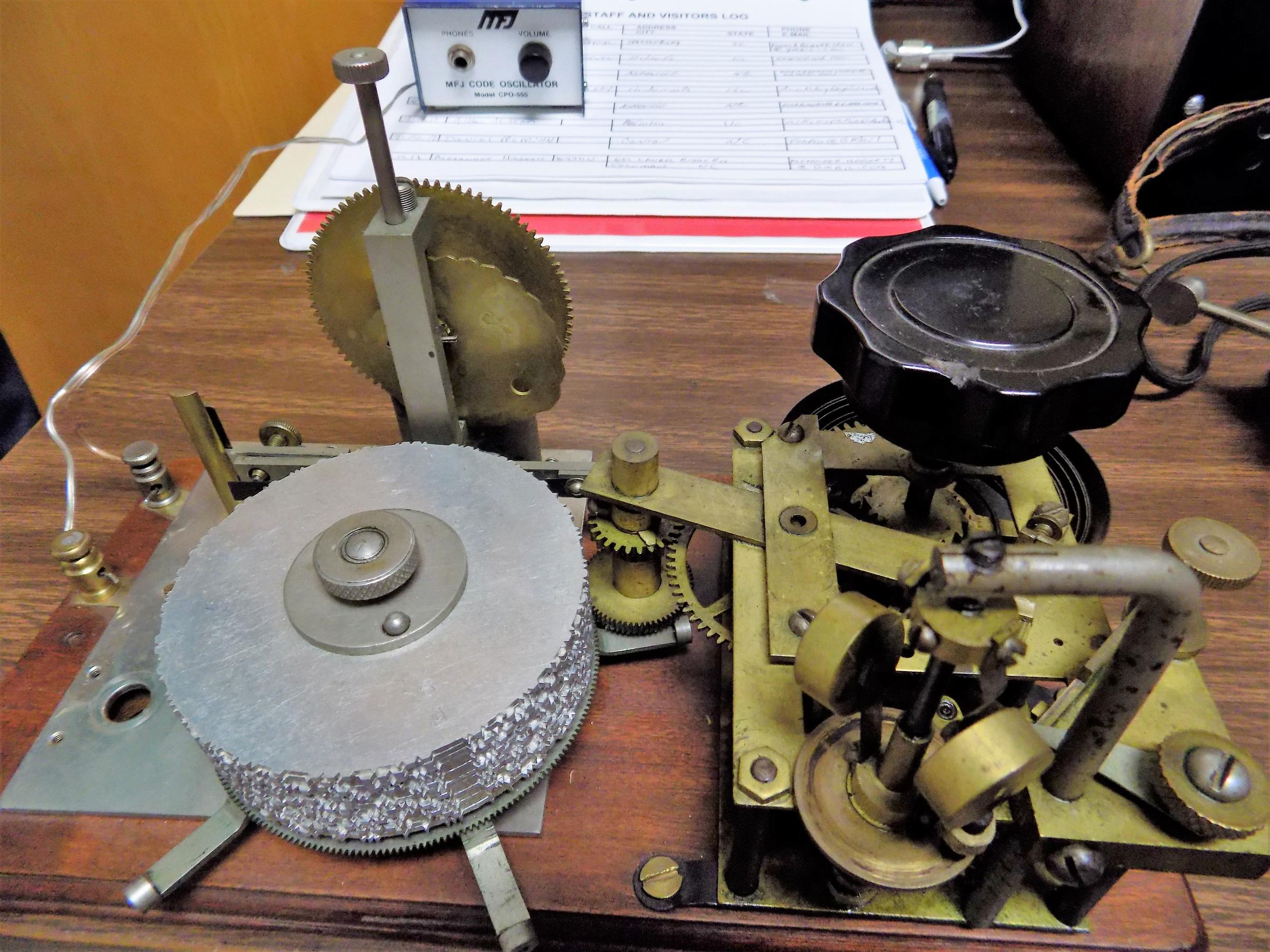 Wnc Hidden Attraction Asheville Radio Museum Bpr Tapping Morse Code Circuit A Practice Machine Taps Out At The