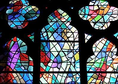 Manessier window at Unser Lieben Frauen Church, Bremen, Germany