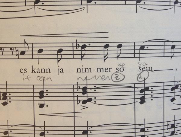 """Sheet music for """"Frauenliebe und Leben"""""""