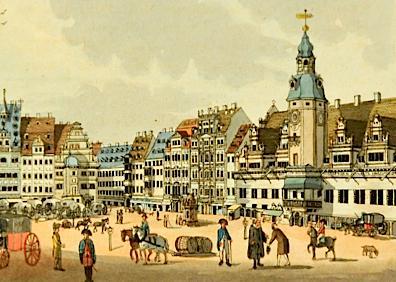 Leipzig in 1804, by Carl Benjamin Schwarz