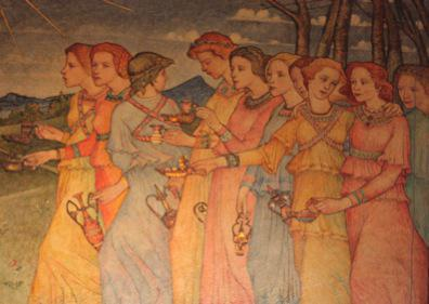 """The Parable of the Ten Virgins,"" by Phoebe Traquair"