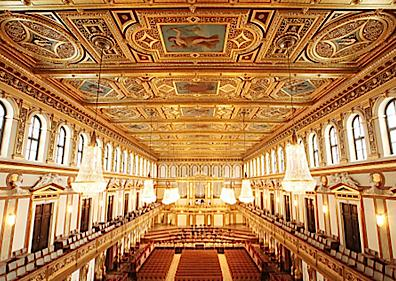Ceiling Perspective of the Musikverein, Vienna