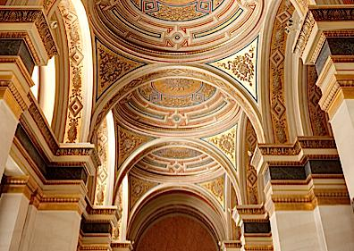 Ceiling Detail of the Lobby at the Musikverein, Vienna