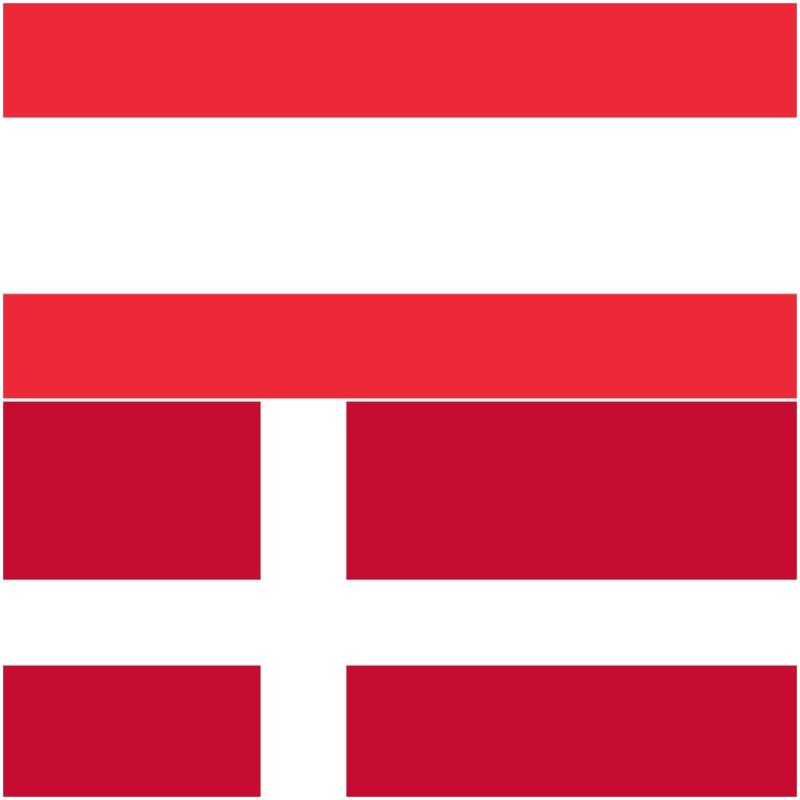 Austrian and Danish flags