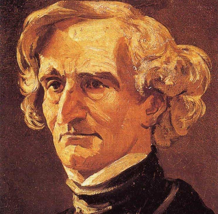 Portrait of composer Hector Berlioz by Honoré Daumier, after the photograph by Nadar