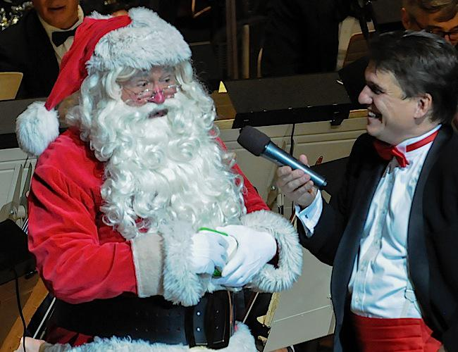 Santa Claus and Keith Lockhart