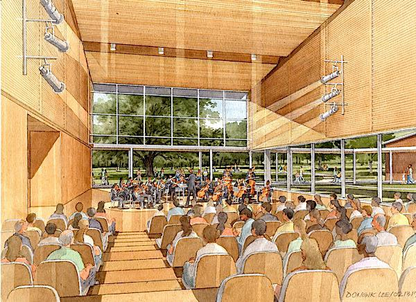 Interior of the new building for Tanglewood