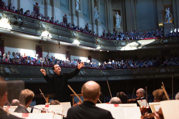 Andris Nelsons conducting the BSO