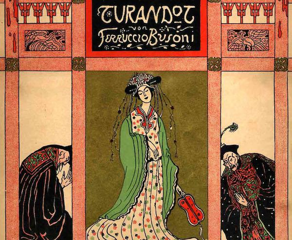 "Cover art by Emil Orlik for Ferruccio Busoni's ""Turandot"" Suite"