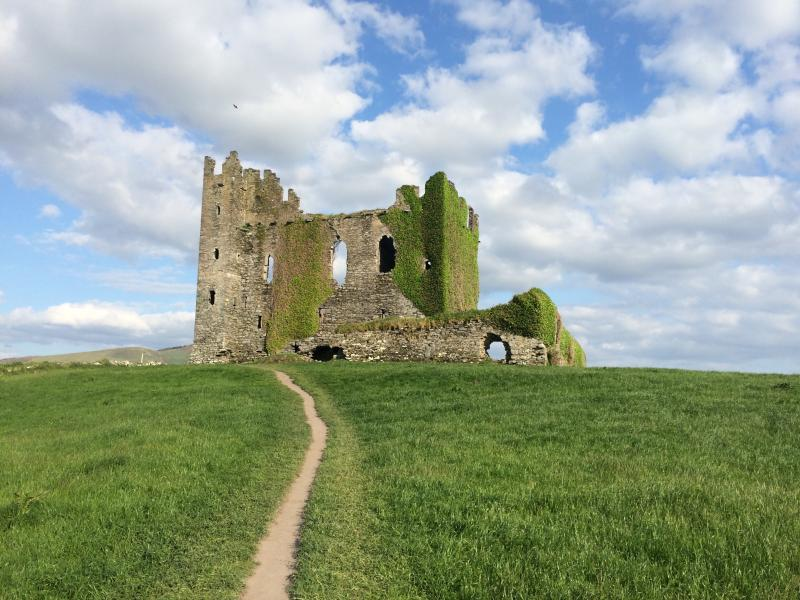 Ballycarbery Castle in County Kerry