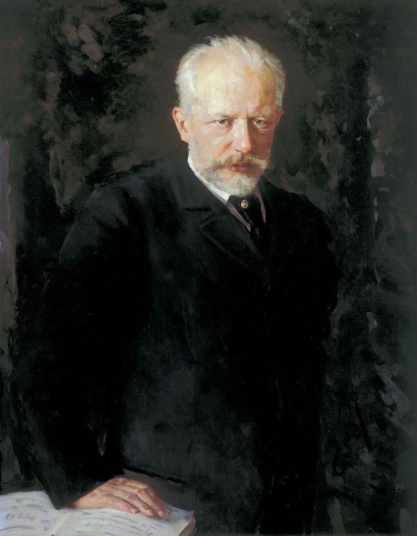 Portrait of composer Piotr Illych Tchaikovsky by Nikolai Kuznetsov