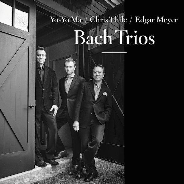 Album cover of Cellist Yo-Yo Ma, mandolinist Chris Thile, & bassist Edgar Meyer's Bach Trio album