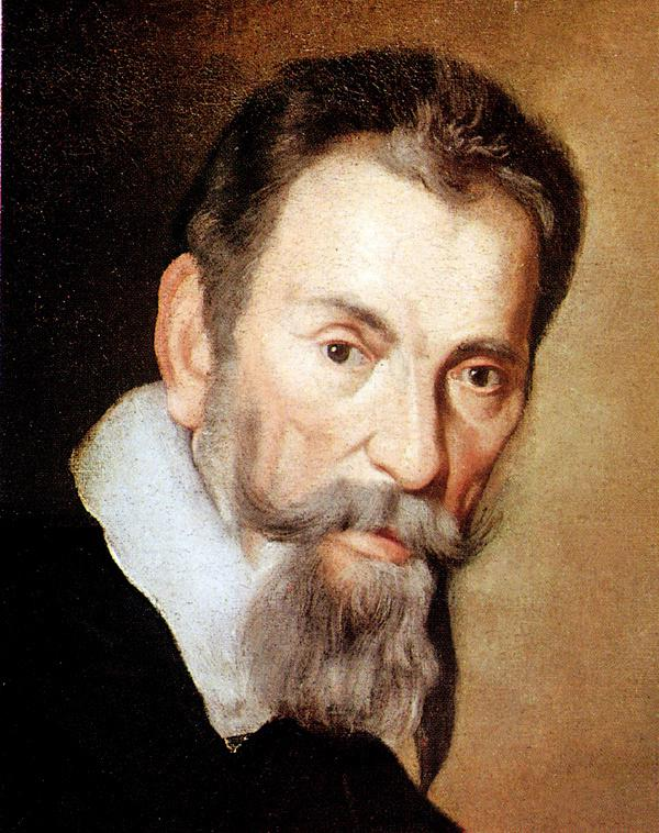 Composer Claudio Monteverdi as depicted in the portrait by Bernardo Strozzi)