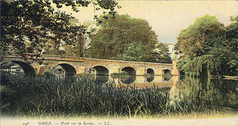 The bridge at the Delius house in Grez-sur-Loing, postcard