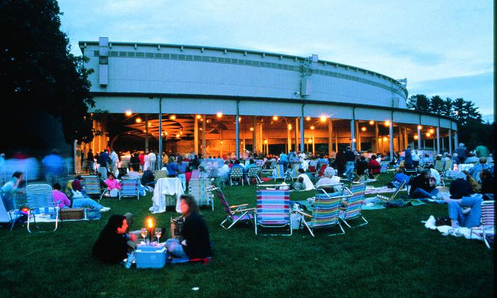 image of Tanglewood at dusk