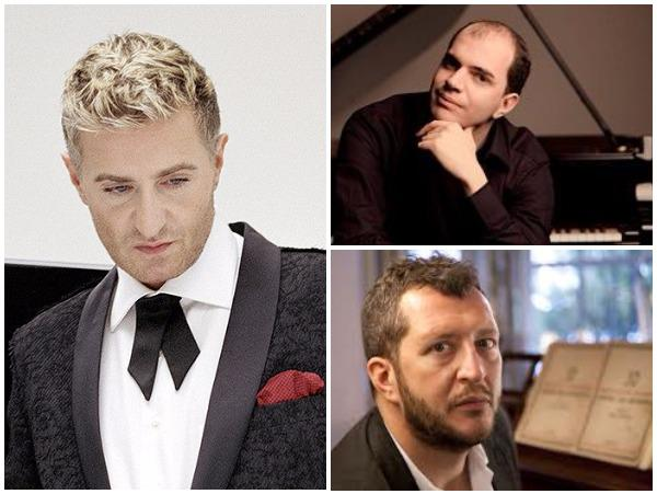 Clockwise from left: Jean-Yves Thibaudet, Kirill Gerstein, Thomas Adès