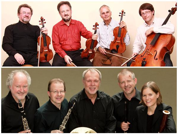 Top: Philharmonia Quartett Berlin; Bottom: Berlin Philharmonic Wind Quintet