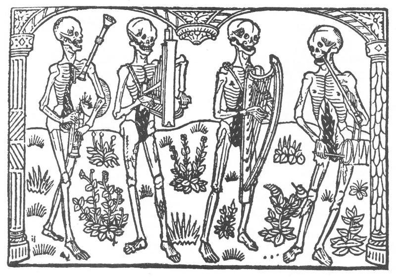 La grant danse macabre des hommes et des femme, by Nicolas le Rouge, 1496