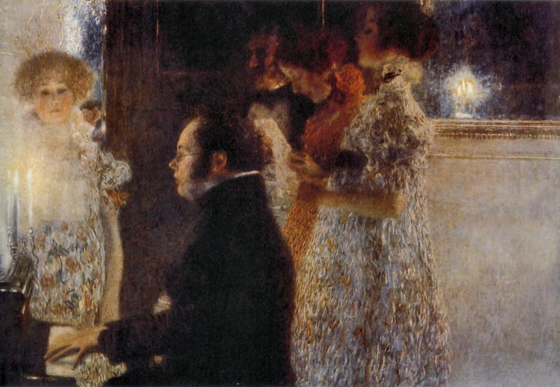 Portrait of Franz Schubert by Gustave Klimt