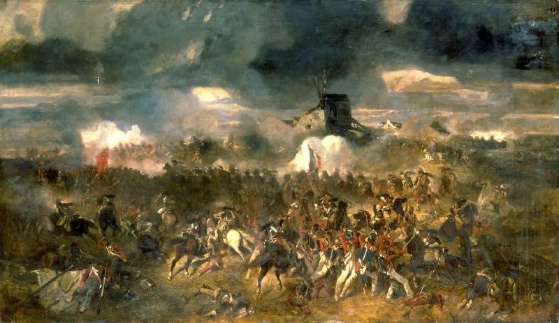 """The Battle of Waterloo"" by Clément-Auguste Andrieux, 1851"