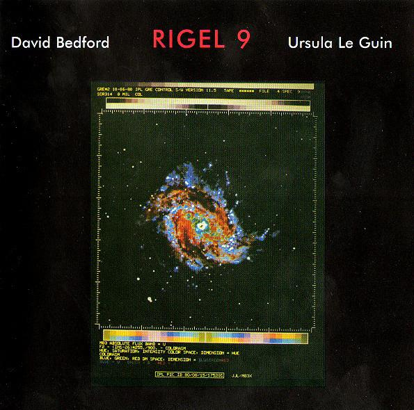 "Album cover for Bedford and Le Guin's ""Rigel 9"""