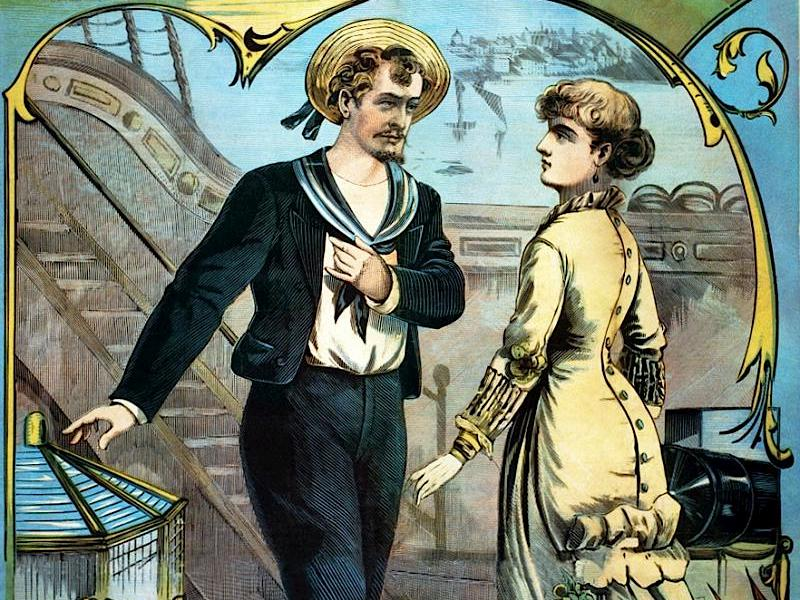 "Theatre poster of Gilbert & Sullivan's ""H.M.S. Pinafore"""